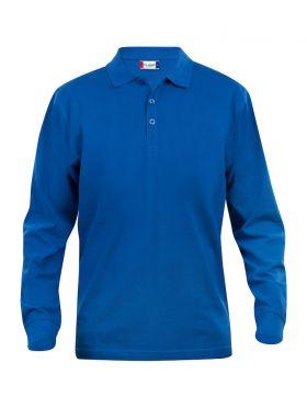 Basic Polo L/S Junior Blue