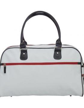 Weekend Bag White/Red/Dk Navy