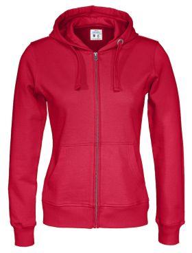 Full Zip Hood Lady Red