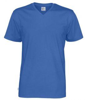 T-Shirt V-Neck Man Royal Blue