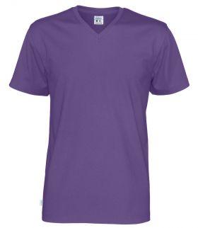 T-Shirt V-Neck Man Purple