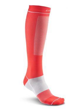 Compression Sock Shock/White