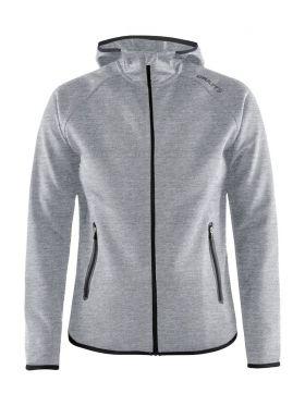 Emotion Full Zip Hood W Grey Melange