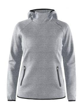 Emotion Hood Sweatshirt W Grey Melange