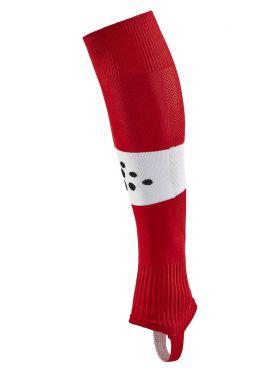 Pro Control Stripe W-O Foot Socks Jr Bright Red/White