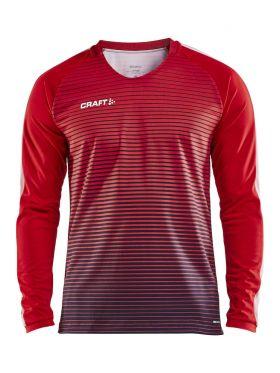 Pro Control Stripe Jersey Ls M Bright Red/Navy