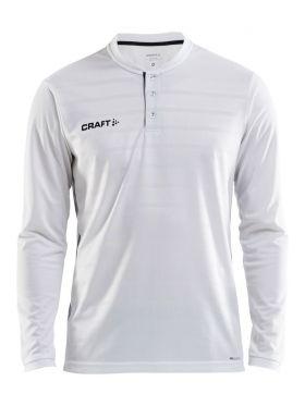 Pro Control Button Jersey Ls M White/Black