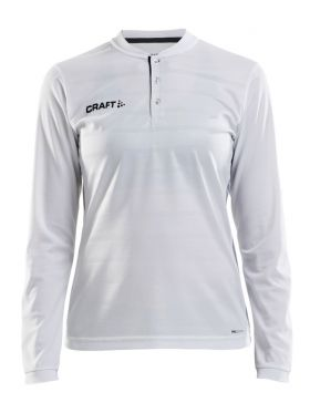 Pro Control Button Jersey Ls W White/Black