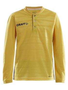 Pro Control Button Jersey Ls Jr Sweden Yellow/Black