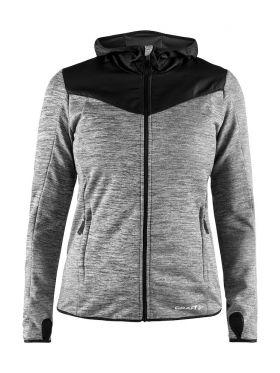 Breakaway Jersey Jacket II W Dk Grey Melange-Black