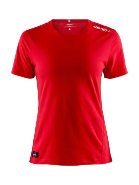 Community Mix SS Tee W Bright Red