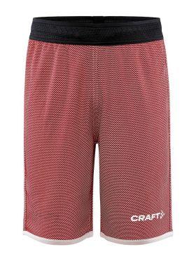 Progress Reversible Basket Shorts Jr Bright Red/White