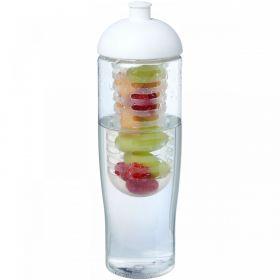 H2O Tempo® 700 ml sportsflaske og infuser med kuppel-lokk Hvit