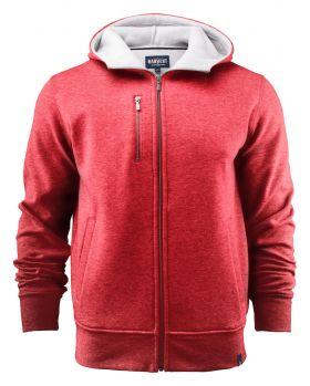 Parkwick Hooded Men Jacket Red Melange