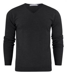 Westmore merino pullover Black