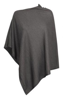 Poncho Grey Melange