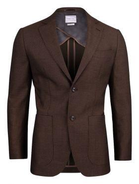 JH&F Club Blazer 30 Brown Melange