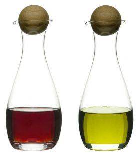 Nature olje/eddik-flaske med eikekork, 2-pk.
