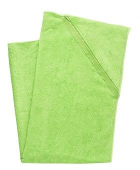 Sportshåndkle med oppbevaringslomme, grønn