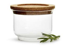 Nature glasskrukke med lokk, liten