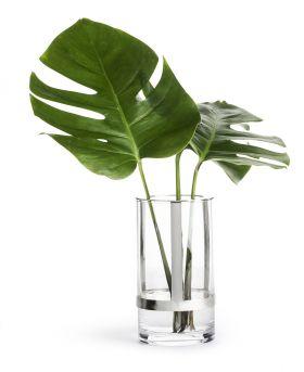 Hold lyslykt & vase, sølv