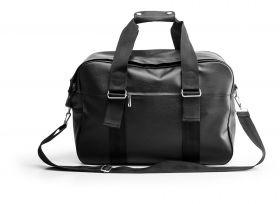 Weekendbag i kunstskinn, svart