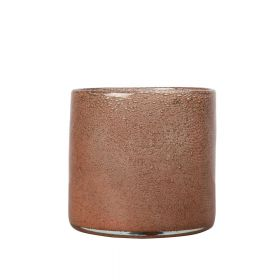 Vase/Lyslykt Calore Medium, rustrød.