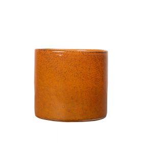 Vase/Lyslykt Calore Medium, orange.