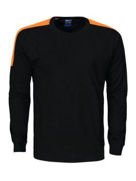 2020 T-Shirt med lang arm Black/Orange