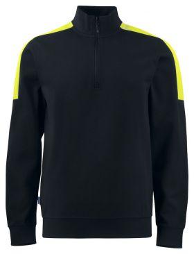 2128 SWEATSHIRT ½ ZIP Black/Yellow