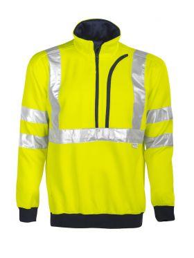 6102 Sweatshirt Kl 3 Yellow/Navy