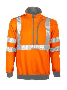6102 Sweatshirt Kl 3 Orange/Grey