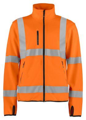 6105 Lett softshelljakke Kl 3 Orange/Black