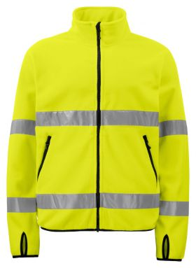 6327 Fleecejakke Kl 3 Yellow/Black