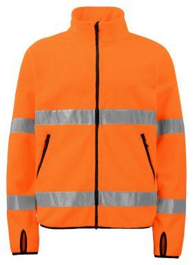 6327 Fleecejakke Kl 3 Orange/Black