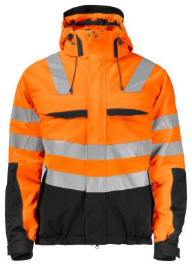 6414 Vinterjakke Kl 3/2 Orange/Black