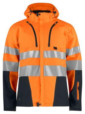 6419 Softshelljakke Kl 3/2 Orange/Black