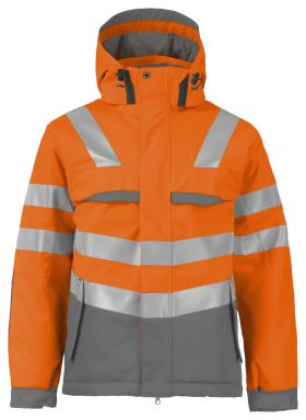 6422 Vinterjakke Kl 3 Orange/Grey