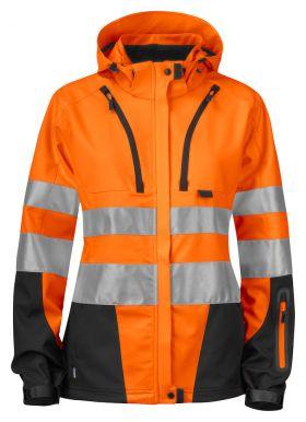 6423 Jakke Dame Kl 3/2 Orange/Black