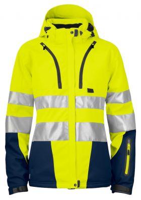 6424 Vinterjakke Dame Kl 3/2 Yellow/Navy