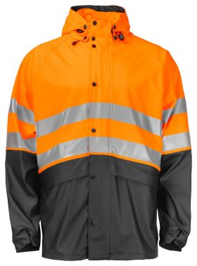 6431 Regnjakke Kl 3/2 Orange/Black