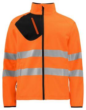 6432 Softshelljakke Kl 3/2 Orange/Black