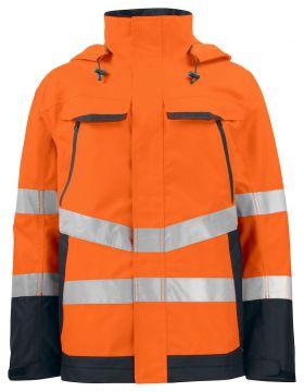6440 Skalljakke Kl 3 Orange/Black