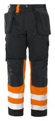 6502 Håndverksbukse Kl 1 Orange/Black
