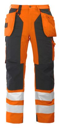 6506 Håndverksbukse Kl 2 Orange/Black