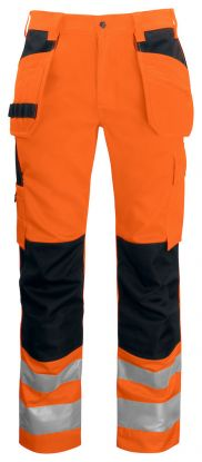6531 Håndverksbukse Kl 2 Orange/Black