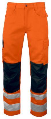 6532 Arbeidsbukse Kl 2 Orange/Black