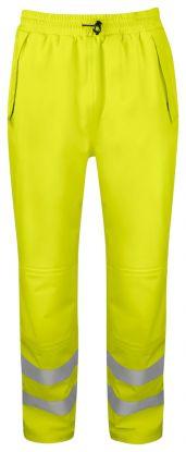 6550 REGNBUKSE EN ISO 20471 KLASSE 2/1 Yellow/Black