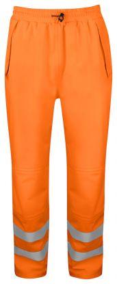 6550 REGNBUKSE EN ISO 20471 KLASSE 2/1 Orange/Black