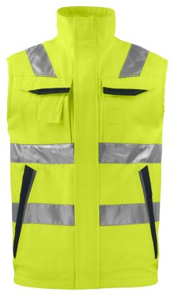 6711 Vest Kl 2 Yellow/Black
